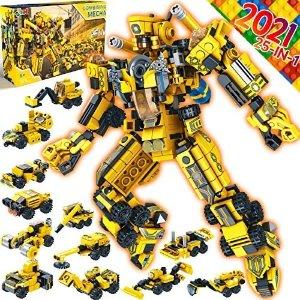 25合1 工程车变形机器人,573个颗粒