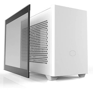 $94.99 带侧透面板和PCIe支架Cooler Master NR200P 白色 SFF ITX 机箱 支持280冷排