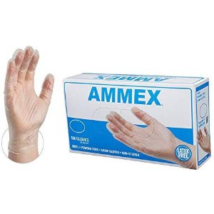 $4.85AMMEX Medical Clear Vinyl Gloves