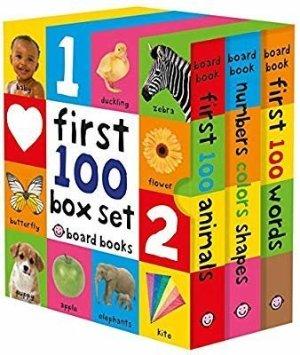 Amazon.com: First 100 Board Book Box Set (3 books) (9780312521066): Roger Priddy: Books