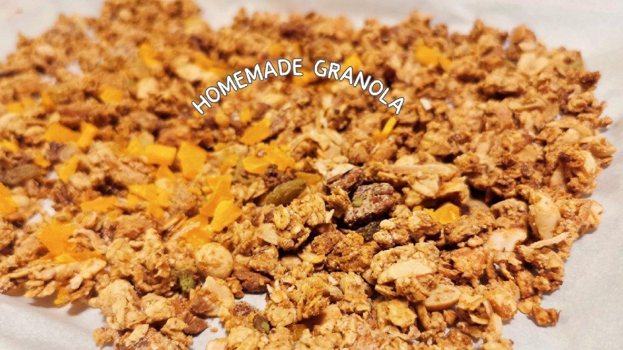 自制GRANOLA‖肉桂可可烤燕麦‖从此爱上greek yogurt