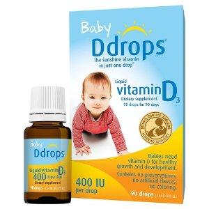 Ddrops Baby Vitamin D Liquid Drops - 2.5ml : Target