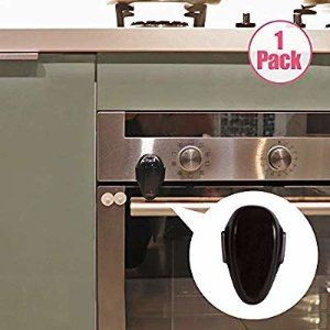 Amazon.com : EUDEMON 1 PackChildproof Oven Door Lock, Oven Front Lock Easy to Install and Use Durable and Heat-Resistant Material no Tools Need or Drill (Black) : Baby