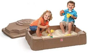 Amazon.com: Step2 Play and Store Sandbox With Cover: Baby