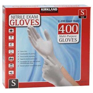 Kirkland Signature Nitrile Exam Gloves, 400-count, Size Large