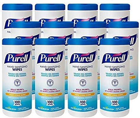 PURELL 抗菌清洁擦手湿巾 100片 x 12盒