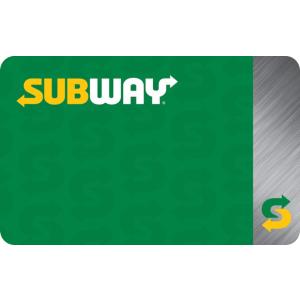 For $40 + 4X Fuel PointsKroger $50 Subway eGift Card