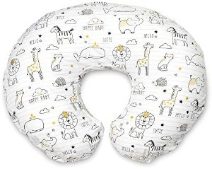 Amazon.com : Boppy Original Nursing Pillow and Positioner, Notebook Black and Gold, Cotton Blend Fabric with allover fashion : Baby