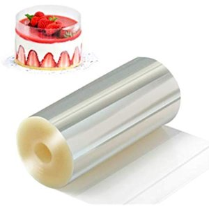 Amazon.com: Cake Collar, KOOTIPS Chocolate Mousse and Cake Decorating Acetate Sheet CLEAR ACETATE ROLL 125 Micron (2.36 x 3930inch): Kitchen & Dining