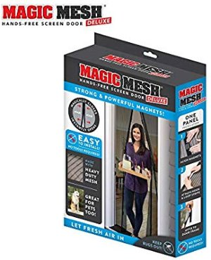 Magic Mesh New and Improved Hands Free Magnetic Screen Fits Doors Up to Up to, 83