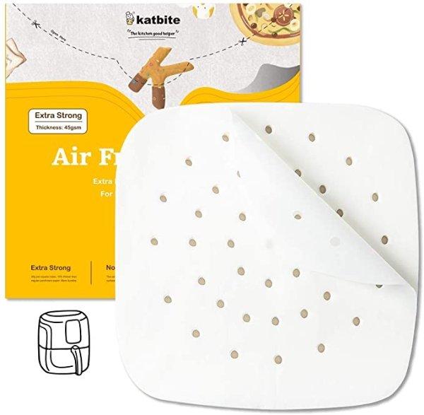 Katbite 7.5寸空气炸锅/蒸笼垫纸 120张
