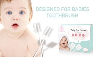 Amazon.com : Baby Toothbrush, Infant Toothbrush Clean Baby Gums Disposable Tongue Cleaner Gauze Toothbrush Infant Oral Cleaning Stick Dental Care for 0-36 Month Baby : Baby