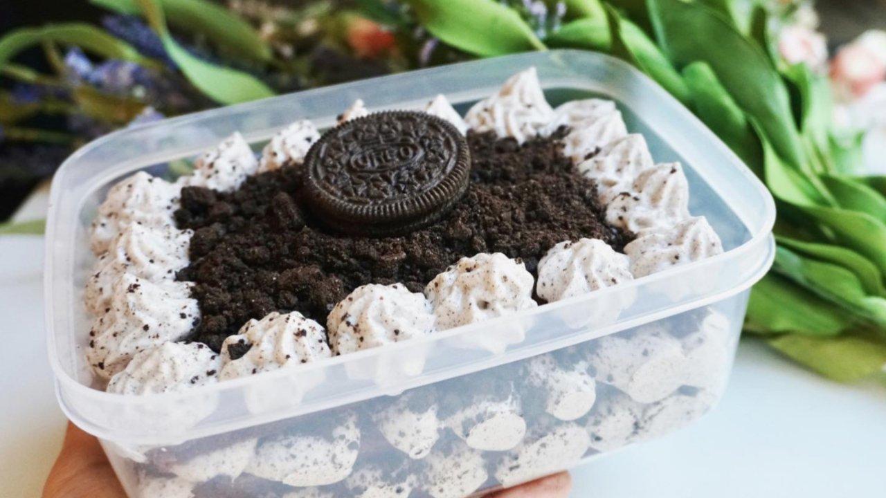 ㊙️好吃到💥的奥利奥咸奶油盒子蛋糕😍新手友好零失败!