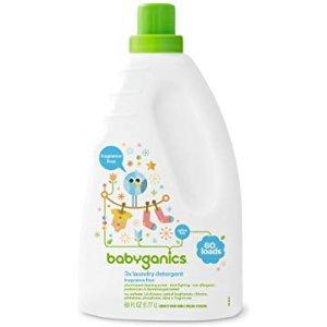 Amazon.com: Babyganics 3X Baby Laundry Detergent, Fragrance Free, 60 Fluid Ounce: Health & Personal Care
