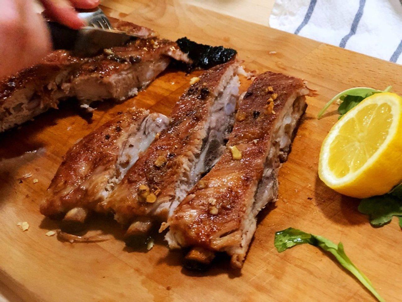口水直流 肉骨分离 超简单烤猪肋排