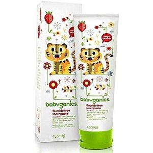 Amazon.com : Babyganics Fluoride Free Toothpaste 4 oz., Strawberry - 2 Count : Baby