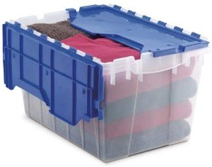 Amazon.com: Akro-Mils 66486 CLDBL 12-Gallon Plastic Storage KeepBox with Attached Lid, 21-1/2-Inch by 15-Inch by 12-1/2-Inch, Semi Clear: Home Improvement