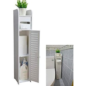 AOJEZOR Small Bathroom Storage Corner Floor Cabinet