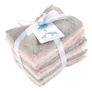 Little Treasure Rayon from Bamboo Washcloths, Light Pink/ Gray, 10 Pack - Walmart.com
