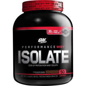 Optimum Nutrition 100% Whey Protein Isolate, 4-pounds