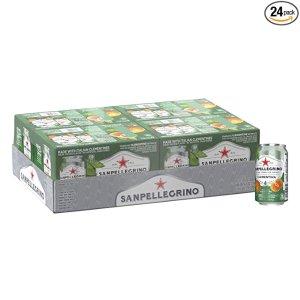 $19.99 每罐仅$0.83Sanpellegrino 意大利气泡饮料 11.15oz 24罐装