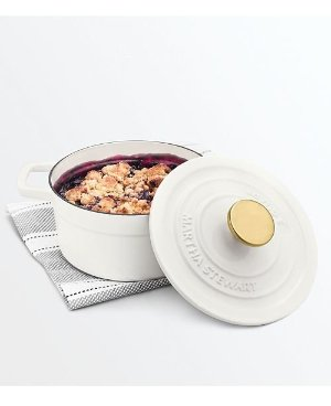 Martha Stewart Collection Enameled Cast Iron 2-Qt. Covered Dutch Oven, Created for Macy's - Cookware & Cookware Sets - Kitchen - Macy's