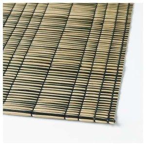 MÖDA Place mat - seagrass natural, black - IKEA