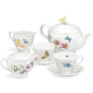 Lenox 蝶舞花香茶具8件套