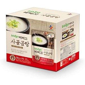 $16.11+包邮 每袋$2.76Bbibigo 韩国原汁牛骨汤 17.7oz 6袋装
