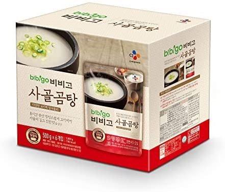 Bbibigo 韩国原汁牛骨汤 17.7oz 6袋装