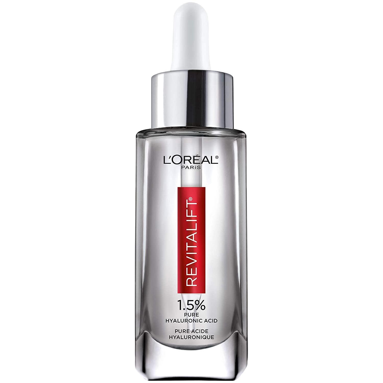 欧莱雅玻尿酸紧致抗皱精华30mlL'Oreal Paris Skincare Revitalift Derm Intensives 1.5% Pure Hyaluronic Acid Face Serum, Hyaluronic Acid Serum for Skin