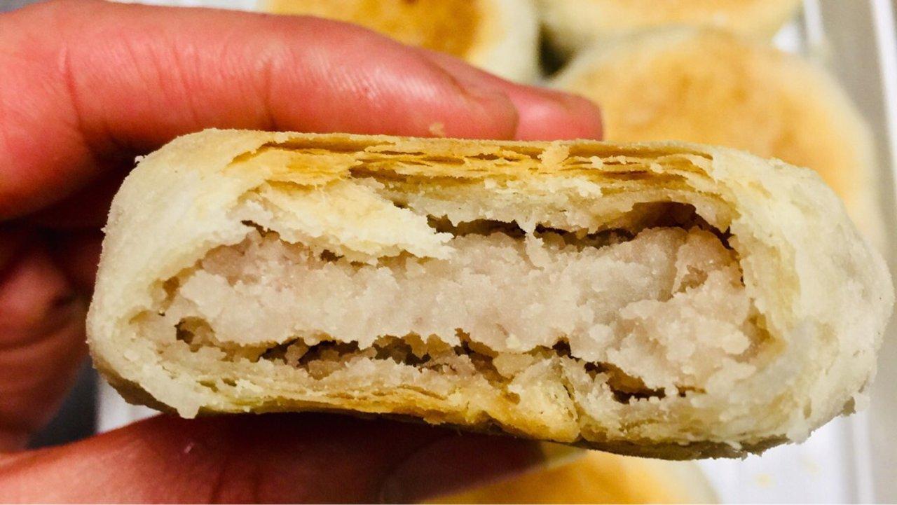 千层芋泥酥饼