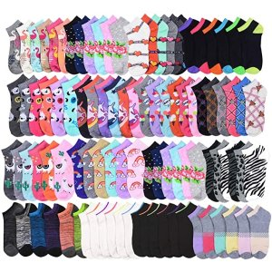 $21.99Women's Socks - Ankle Cut, Low Cut, No Show, Footie, Casual Girls in 60 Colorful Patterns