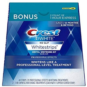 Crest3D美白牙贴44片套装+送速效美白片