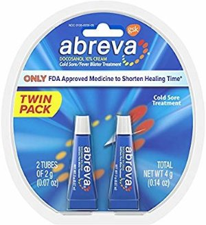 Amazon.com: Abreva Docosanol 10% Cream Tube, Only FDA Approved Treatment for Cold Sore/Fever Blister, 4 grams Twinpack (two 2gram tubes): Health & Personal Care