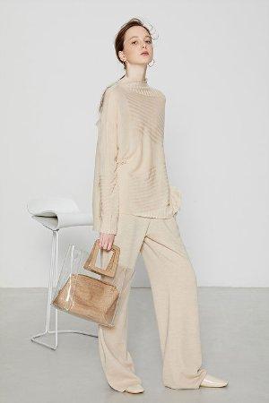 Ecru Emissary | Beige Aliyah Wool Blend Knit | ecruemissary