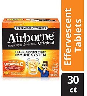 Amazon.com: Airborne Vitamin C 1000mg Immune Support Supplement, Effervescent Formula, Orange, 30 Count: Gateway