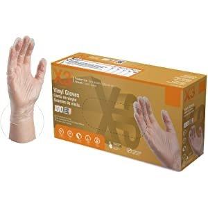 Ammex 透明乙烯基一次性手套 无粉 无乳胶 100个 可接触食物