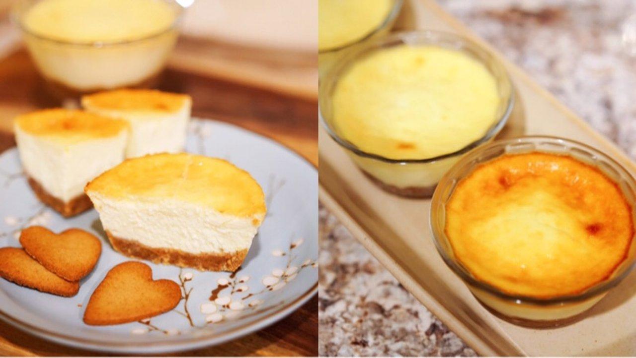 小巧可爱又美味的cheese cake碗,再也不怕一不小心吃到卡路里爆表了😄