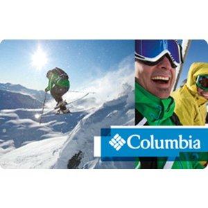 Columbia Sportswear 礼卡