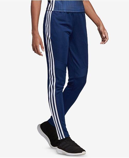 adidas Tiro ClimaCool 女款三条杠运动长裤 蓝色款