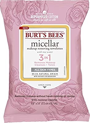 Burt's Bees Burts Bees Micellar Makeup Removing Towelettes - Rose Water 30 Pc卸妆巾
