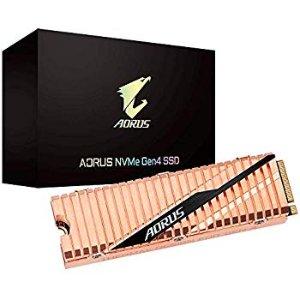 史低价:技嘉 AORUS NVMe Gen4 M.2 2TB PCIe4.0 固态硬盘