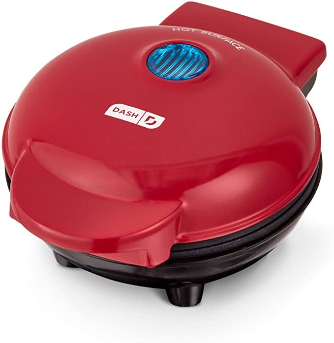Dash 迷你煎饼机DMS001RD Mini Maker Electric Round Griddle for Individual Pancakes, Cookies, Eggs & other on the go Breakfast, Lunch & Snacks