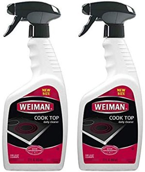 Amazon.com: Weiman Cooktop Cleaner for Daily Use (2 Pack) Streak Free, Residue Free, Non-Abrasive Formula - 22 Ounce: Gateway