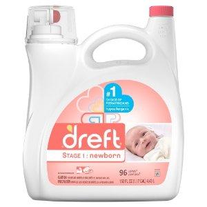Dreft Stage 1: Newborn HEC Liquid Detergent 150 Oz : Target