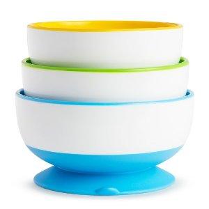 Munchkin 3pk Stay-Put Suction Bowls : Target