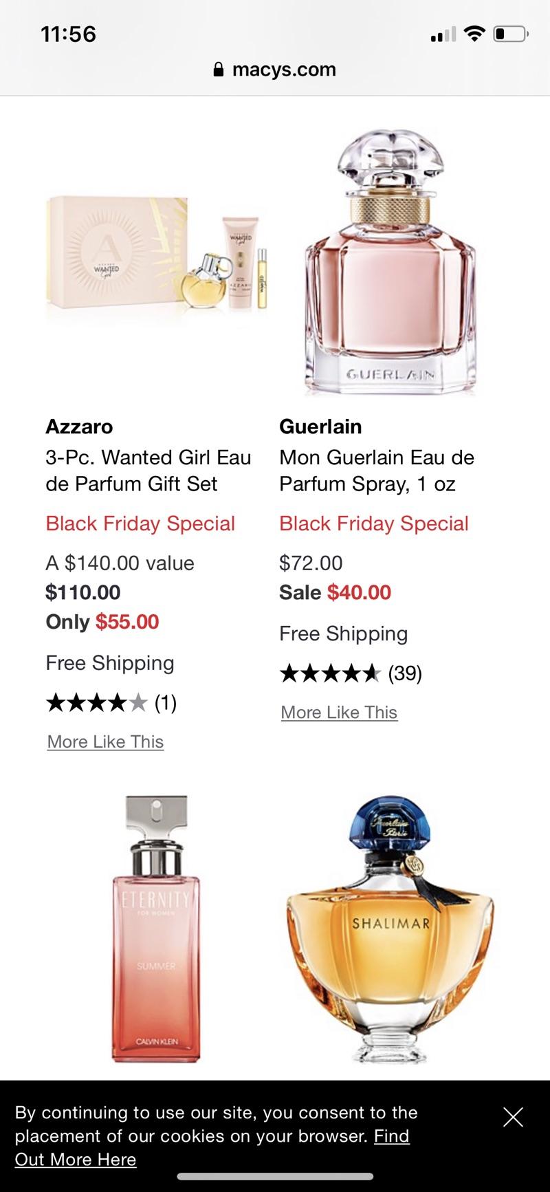 Beauty Fragrances Black Friday Sale & Deals 2020 - Macy's香水地址五折