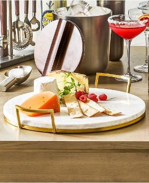 Hotel Collection Marble Tray with Gold-Tone Handles, Created for Macy's & Reviews - Serveware - Dining - Macy's