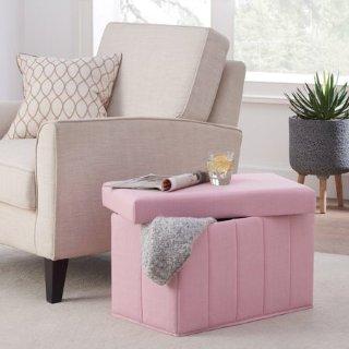 $16.82Mainstays 可折叠收纳凳,粉色、蓝色可选